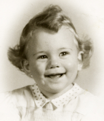 Cathy Clemens 1949 Sonora one year old