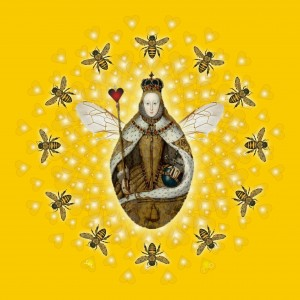 Queen Bee Mandala by Sarah Niebank